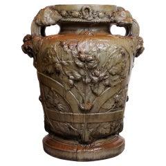 Art Nouveau Period Stoneware Urn by Georges Hoentschel, circa 1901