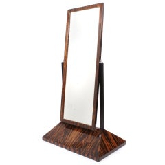 French Art Deco Period Rosewood Dressing Mirror, circa 1930s