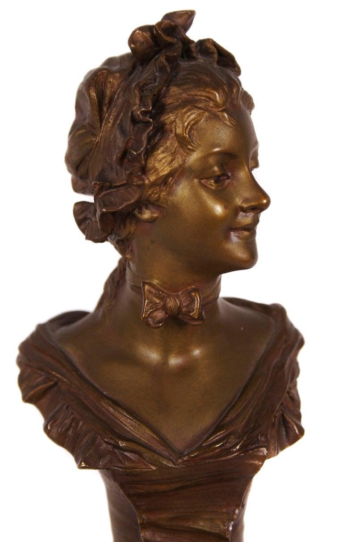 Petite French Art Nouveau Period Bronze by van der ...