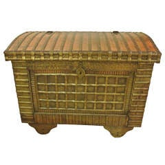 Large Decorative Marriage Chest
