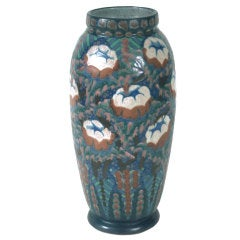 French Art Deco Period Ceramic Vase by Revernay, circa 1930