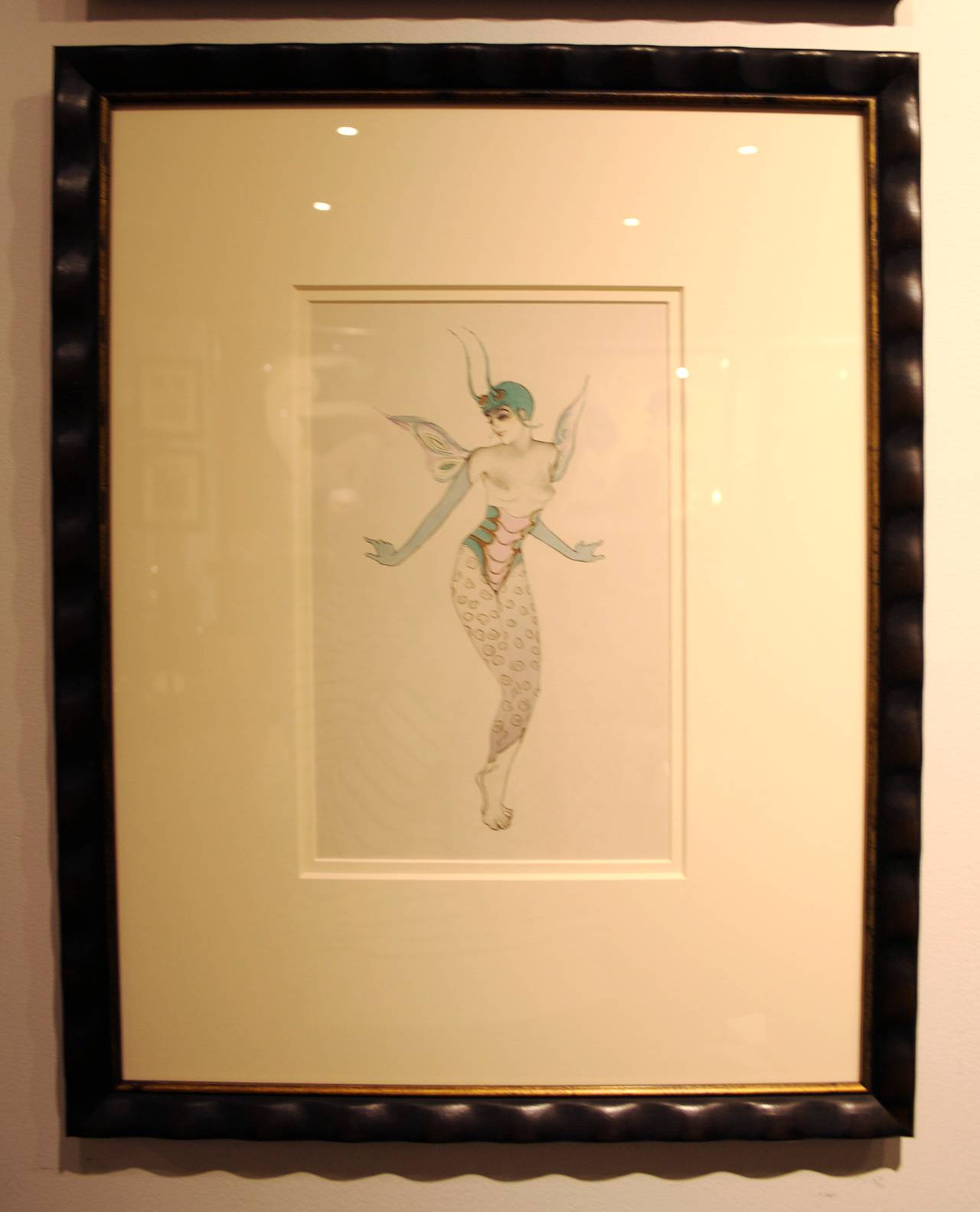 Two pochoir prints from ballet and pantomime by walter for Pochoir prints for sale