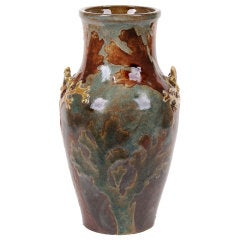 French Art Nouveau Period Vase by Albert-Louis Dammouse, Late 19th Century