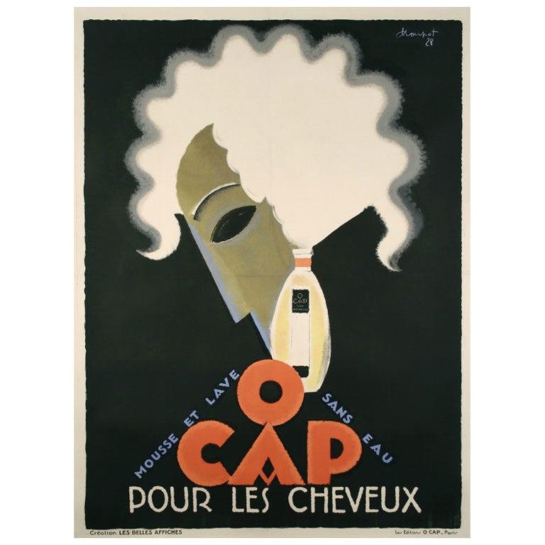 Original french art deco period poster by charles loupot for Art deco era dates