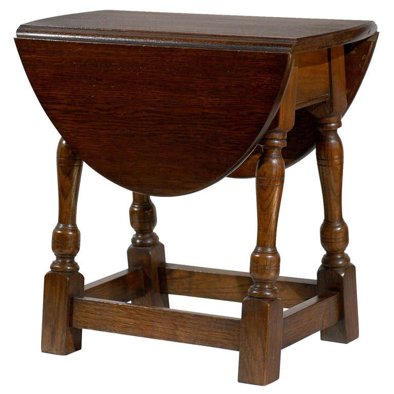 English Swivel Top Drop Leaf Table Circa 1900 1
