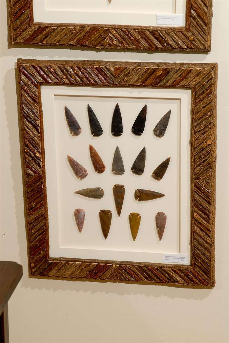 Arrowhead Collection In Hand Crafted Frames At 1stdibs