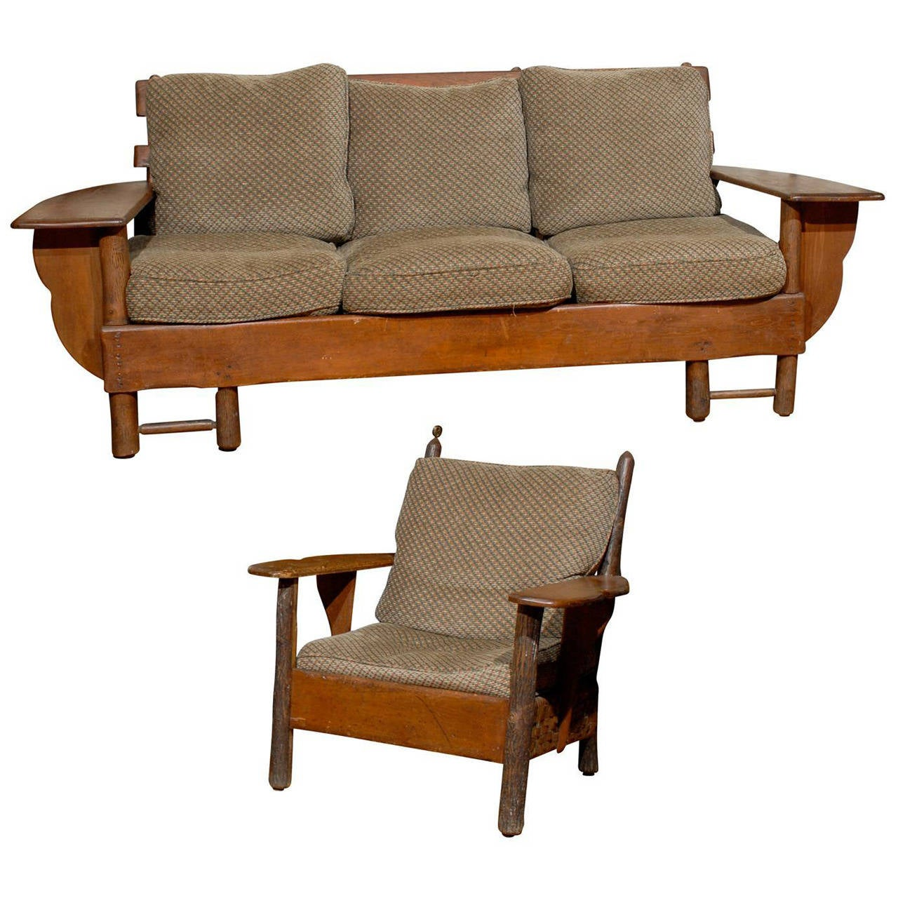1920-1930 Old Hickory Sofa and Chair at 1stdibs