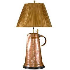 Antique Copper Tea Kettle Crafted into a Lamp