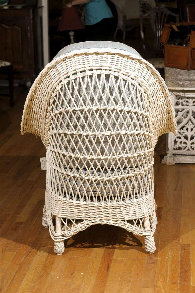 American Antique Wicker Chaise C1920 At 1stdibs