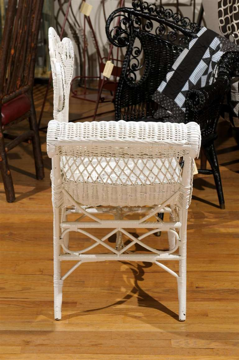White Wicker Photographers Chair For Sale At 1stdibs
