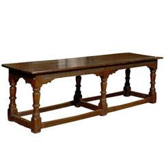 17th Century English Oak Refractory Table