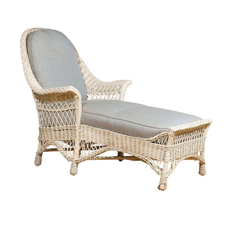 american antique wicker chaise c1920 at 1stdibs. Black Bedroom Furniture Sets. Home Design Ideas