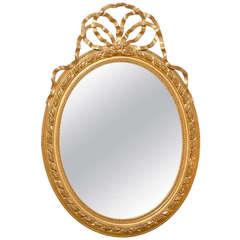 Louis XVI Style Oval Gilt Mirror