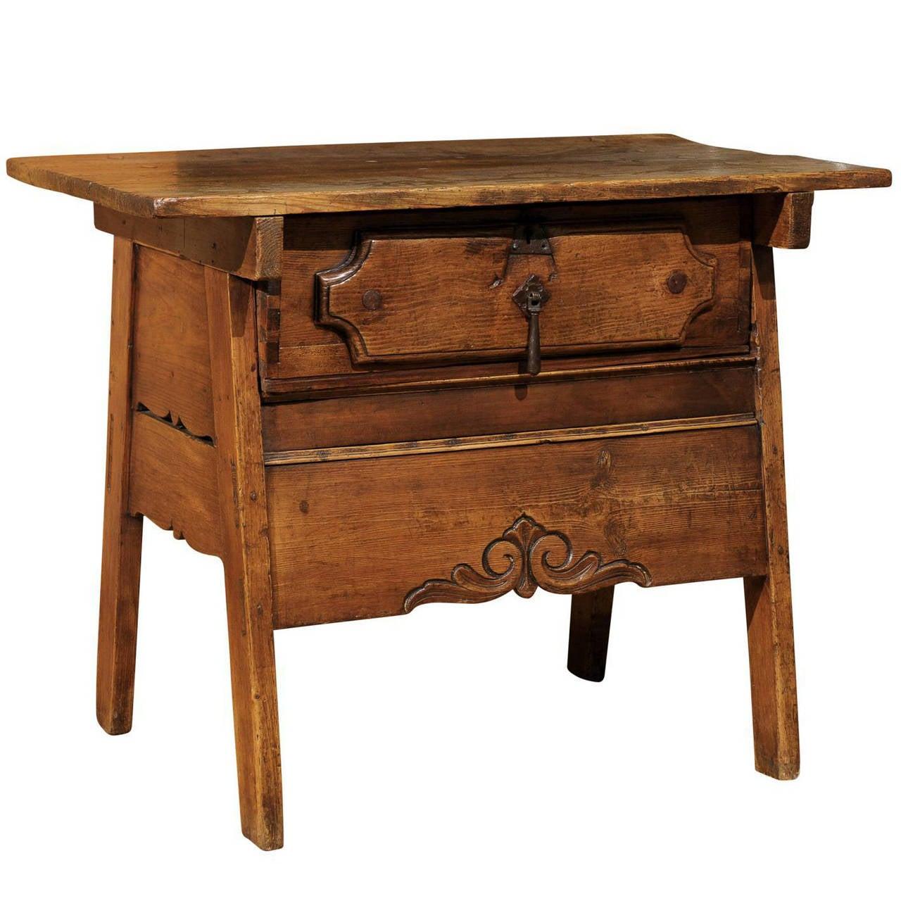 eastern european side table for sale at 1stdibs. Black Bedroom Furniture Sets. Home Design Ideas