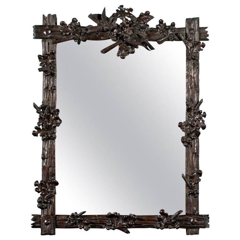 Black Forest Mirror, Late 19th Century
