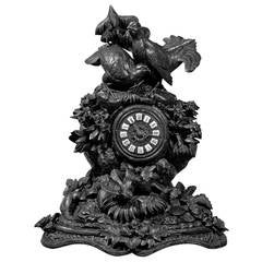 Rare 19th Century Black Forest Mantel Clock with Grouse