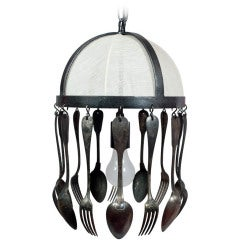 A Tole Chandelier with Decorative Antique Cutlery