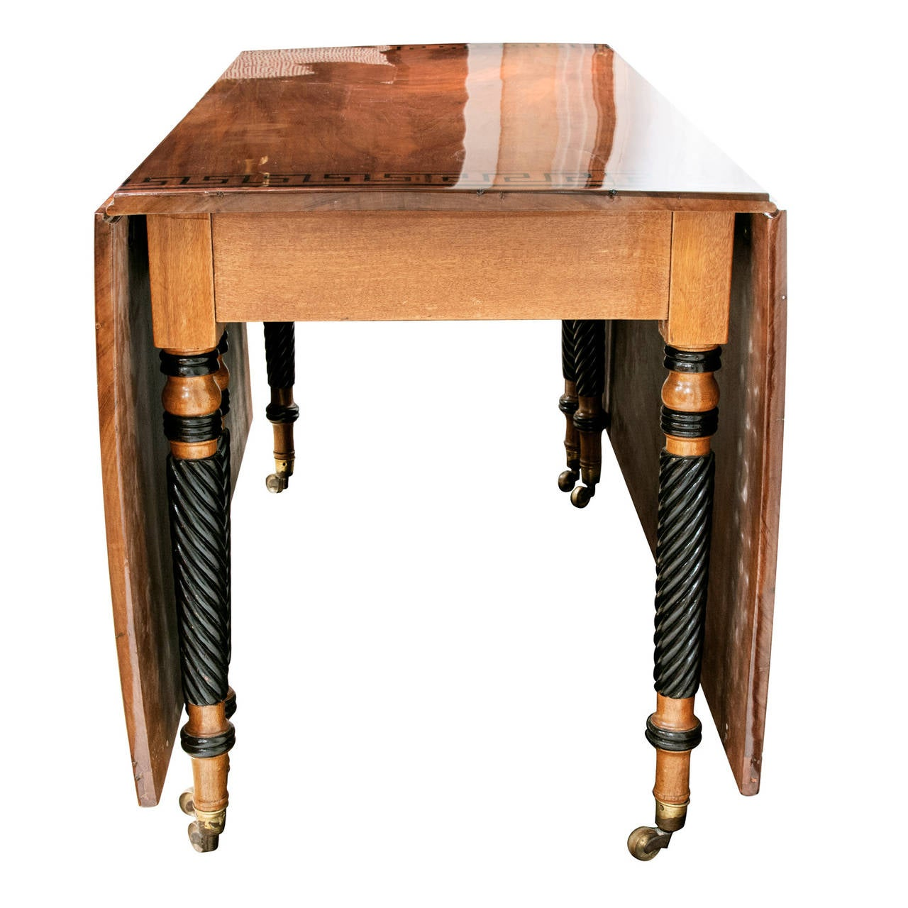 Regency Mahogany Drop-Leaf Table 4