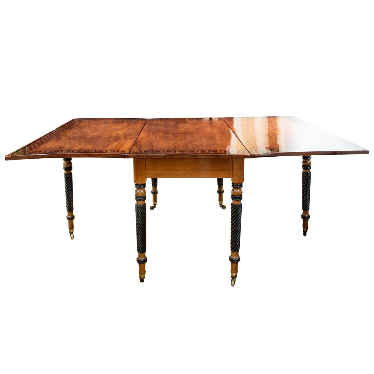 Regency Mahogany Drop-Leaf Table 5