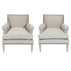Pair of Louis XVI Style Bergeres by Maison Carlhian
