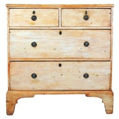 A Georgian Faded White Painted Chest of Drawers