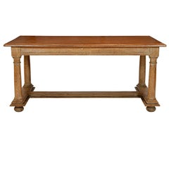 Cerused Oak Coffee Table Attributed to Jean Charles Moreux