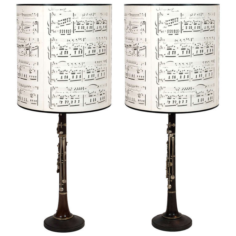 Pair of Clarinet Table Lamps 1