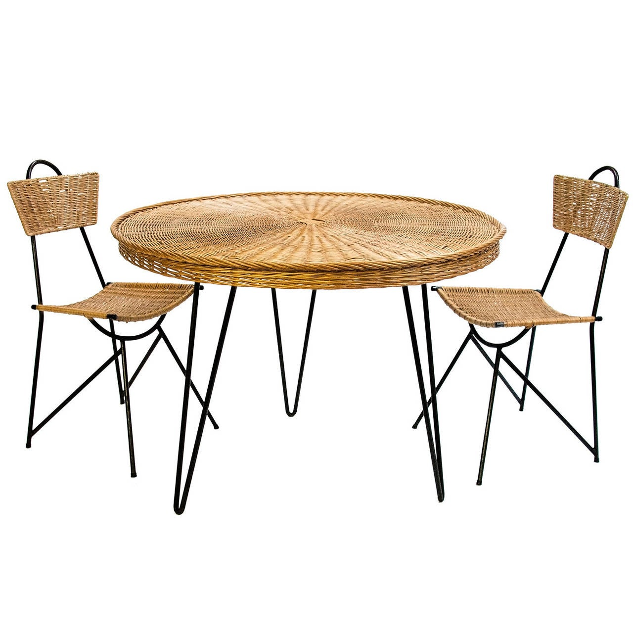 The set includes a round table and four chairs.  Overall chair dimensions: 33