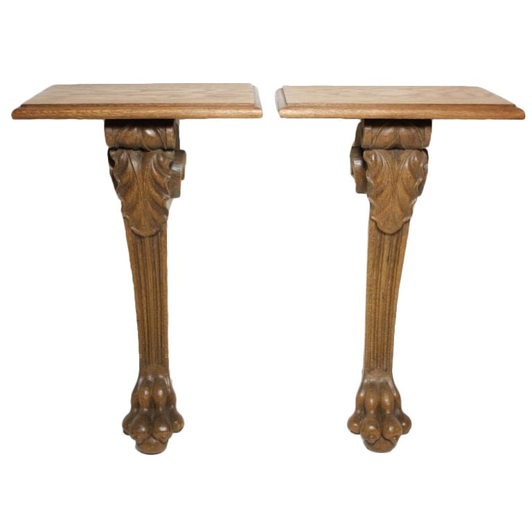 Pair of Napoleon III Claw-Foot Wall Brackets For Sale