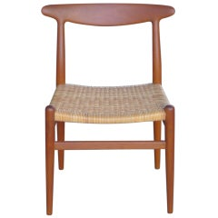 Hans Wegner Teak Heart Chair for CM Madsens 1953