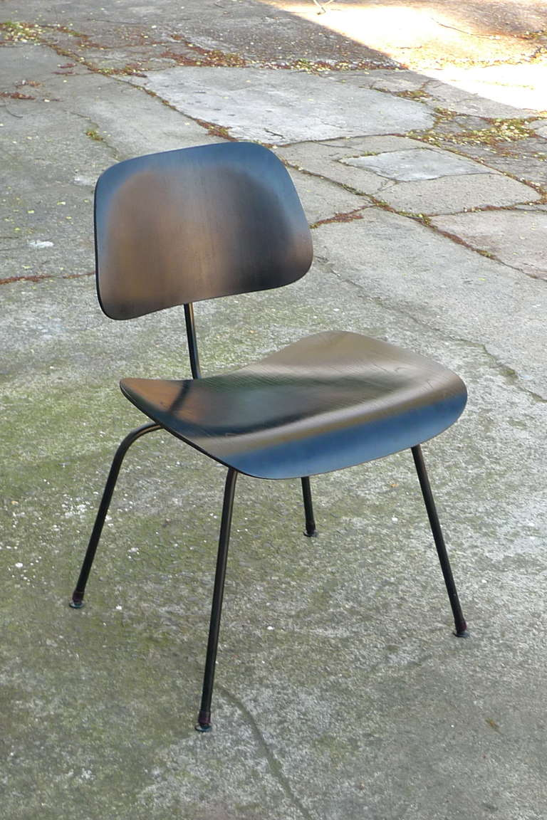 charles eames all black vintage dcm chair for sale at 1stdibs