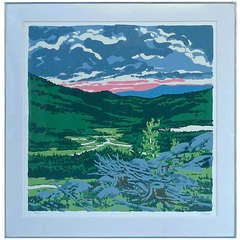 Neil Welliver Woodcut Lithograph