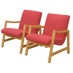 Jens Risom for Knoll Vintage Pair of Arm Chairs