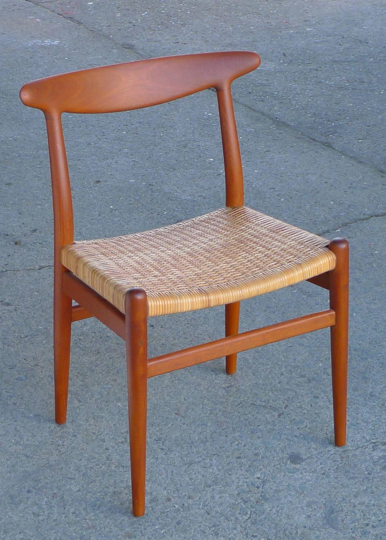 Hans Wegner Vintage Danish Modern Heart Chair For CM Madsens For Sale At 1stdibs