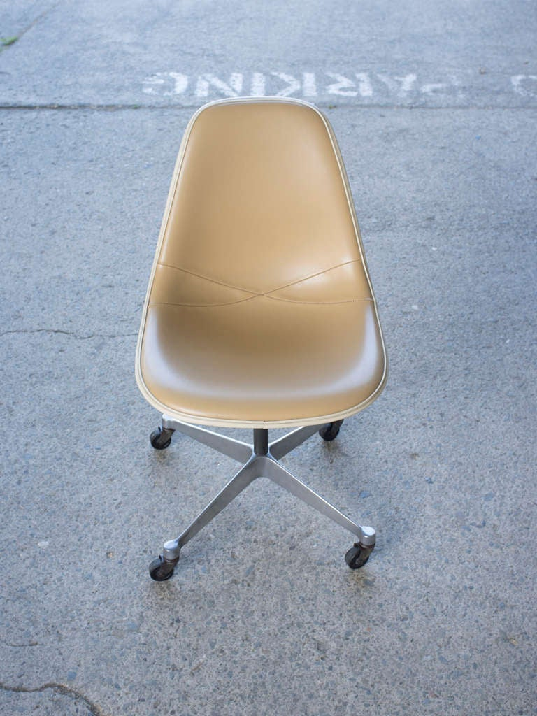 Eames Vinyl Desk Chair With Wheels At 1stdibs