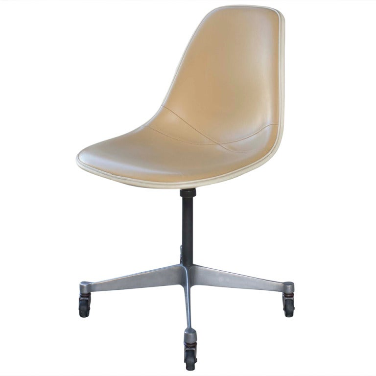 Eames Vinyl Desk Chair With Wheels