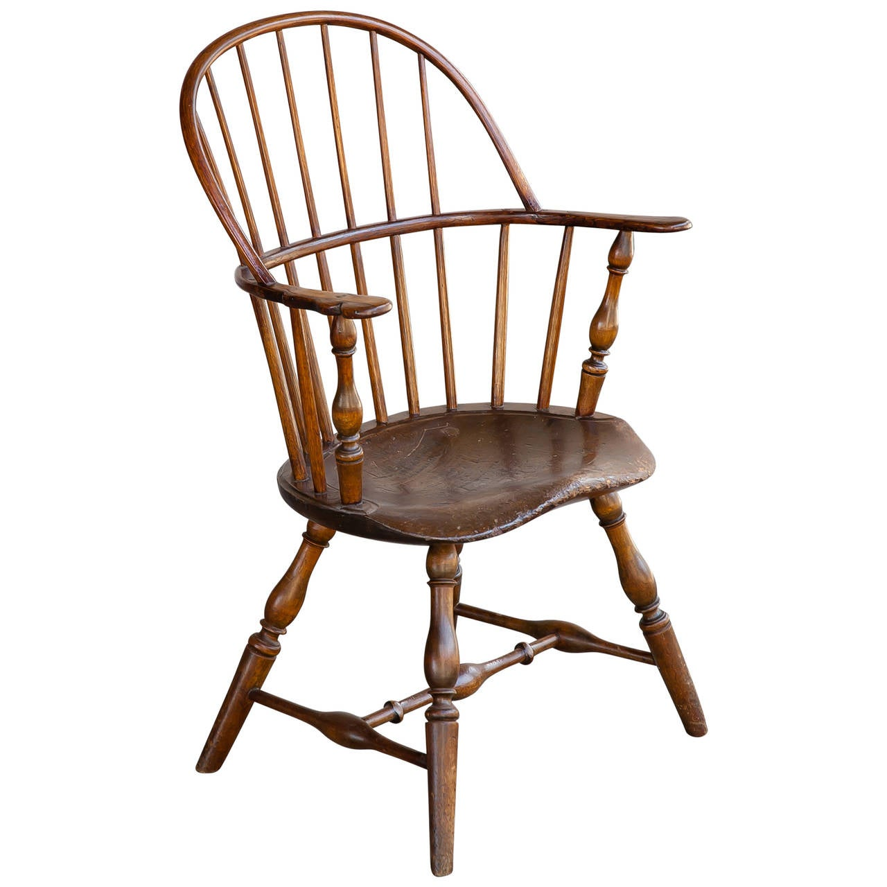 vintage early american sack back windsor armchair at 1stdibs