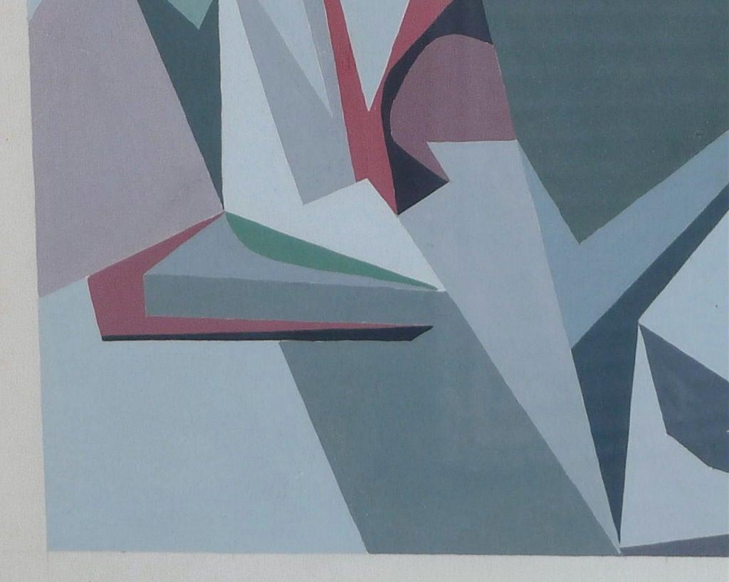 Osthaus Signed Hard Edge Abstract at 1stdibs