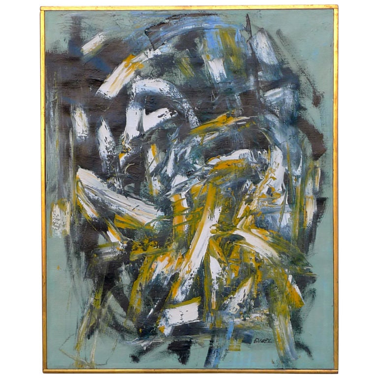 Jules Engel Quot Yellow Fall Quot Abstract Painting 1960 At 1stdibs