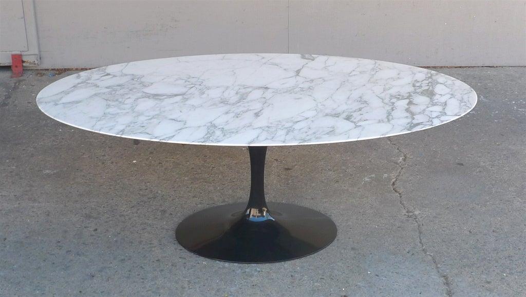 Eero Saarinen For Knoll Elliptical Marble Top Dining Table