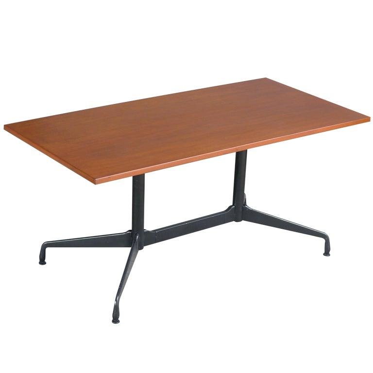 Eames for herman miller custom aluminum group table desk - Eames table herman miller ...