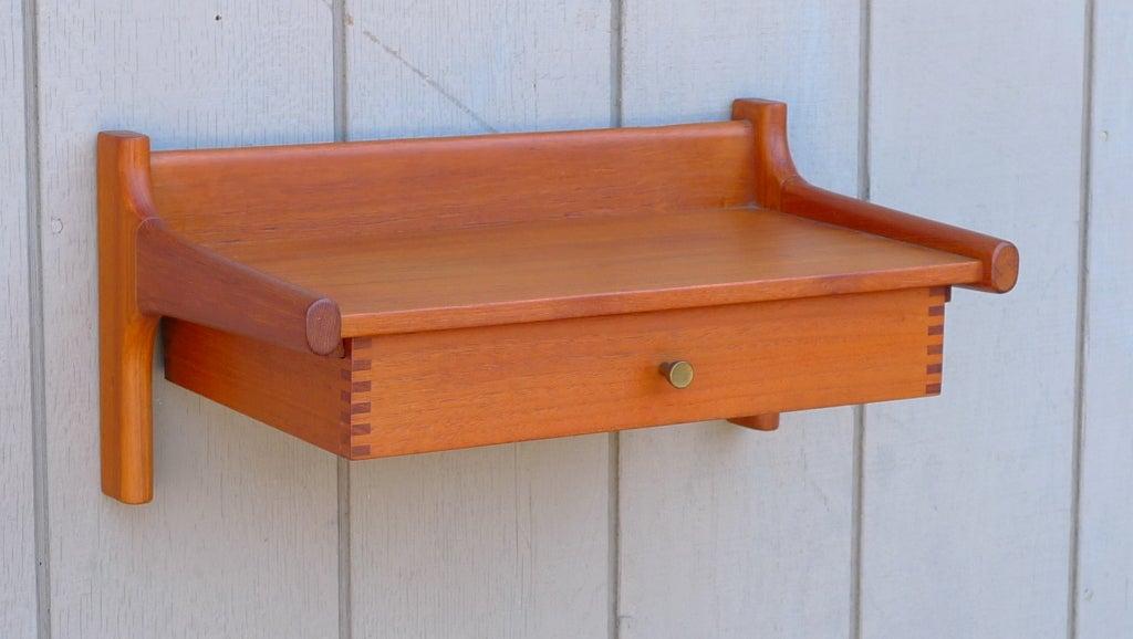 hvidt and molgaard nielsen floating wall mount shelf. Black Bedroom Furniture Sets. Home Design Ideas