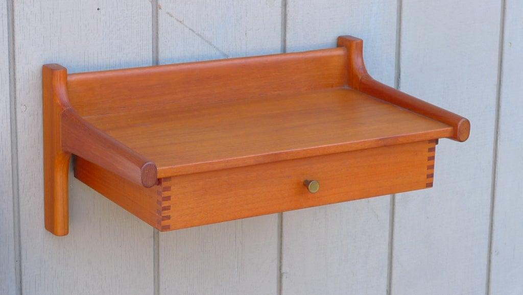 hvidt molgaard nielsen floating wall mount shelf drawer. Black Bedroom Furniture Sets. Home Design Ideas