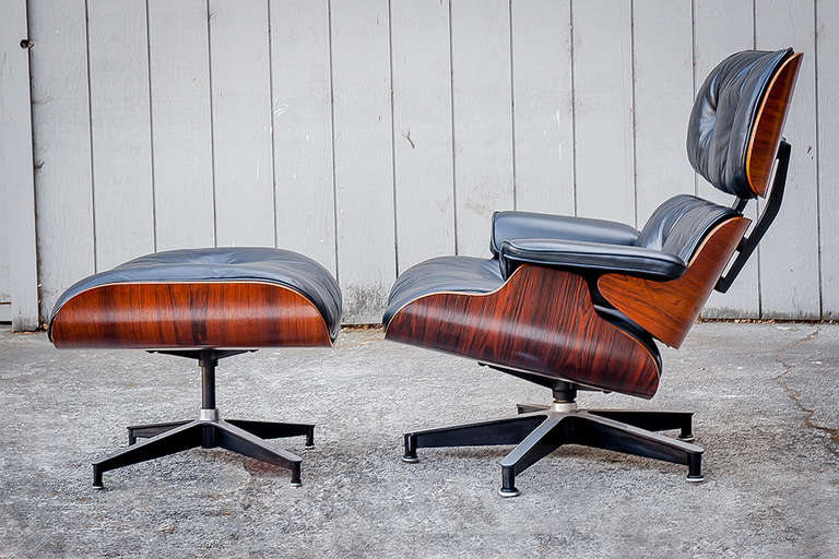 Eames Vintage Rosewood 670 671 Lounge Chair And Ottoman At