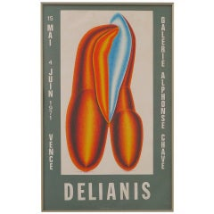 Delianis Period Lithograph Art Poster