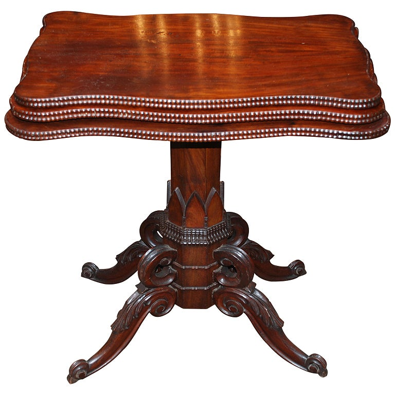 Magnificent Antique Mahogany Three Tier Folding Table C 1860 1880 Beutiful Home Inspiration Cosmmahrainfo