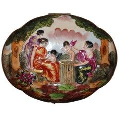 "Antique French Porcelain  ""Capo Di Monte"",  Box"