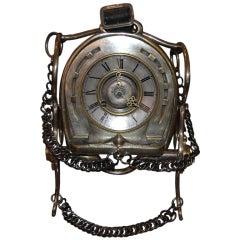 Antique Horseshoe and Bit Clock