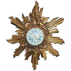 Antique French Belle Epoque Bronze D'ore Clock