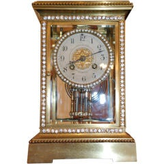 Antique American Bronze Bracket Clock